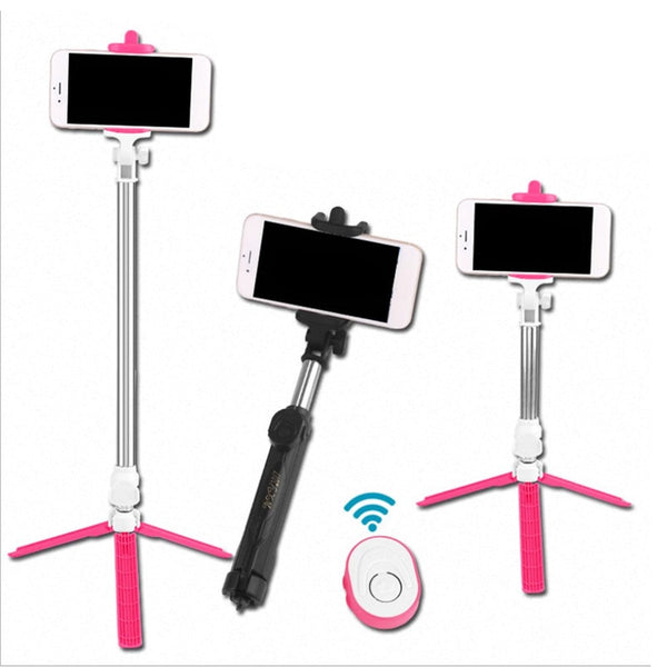 Wireless Bluetooth Remote Shutter Selfie Stick Mini Tripod