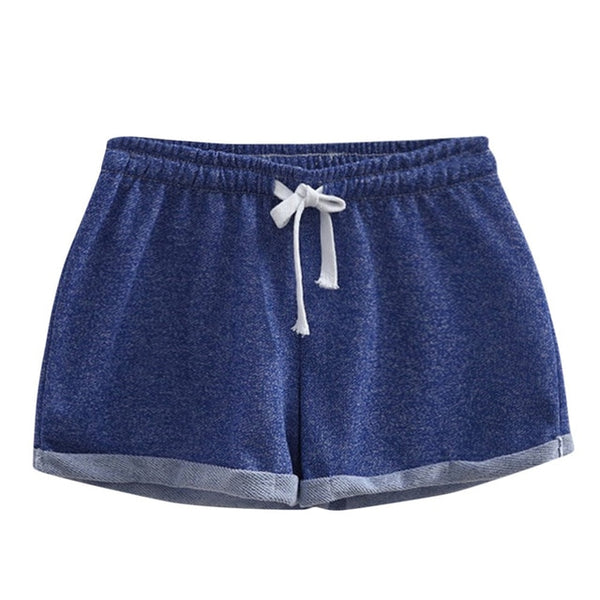 Women's  Summer Shorts Sports Casual Polyester Mid High Waist