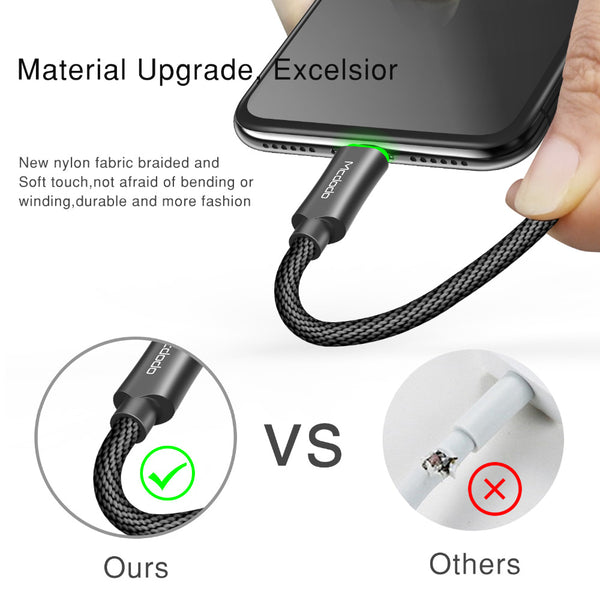 Fast Charging USB Charger for iPhone Data Cable Cord