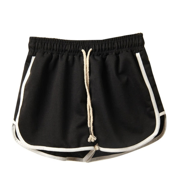 Fitness black shorts women summer Beach mini