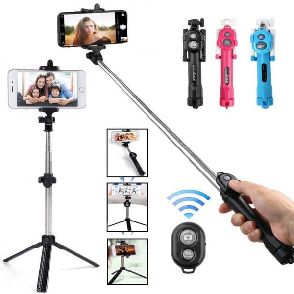 Universal Mobile Phone Bluetooth Selfie Stick Tripod Monopod With Camera
