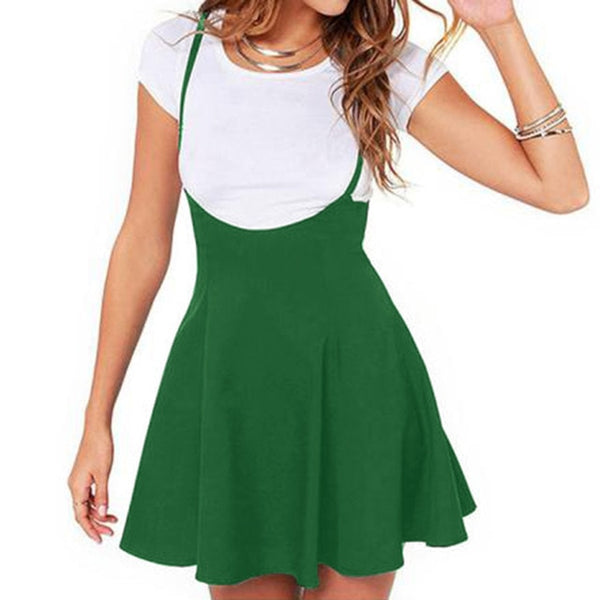Girls Casual Fashion Solid Pleated Skirt Women Fashion