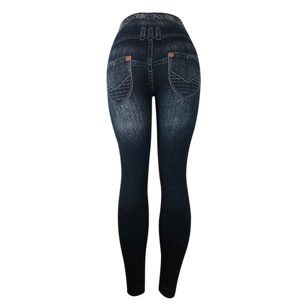 Skinny High Waist Jeans Trousers Denim Hip Push Up Stretchy