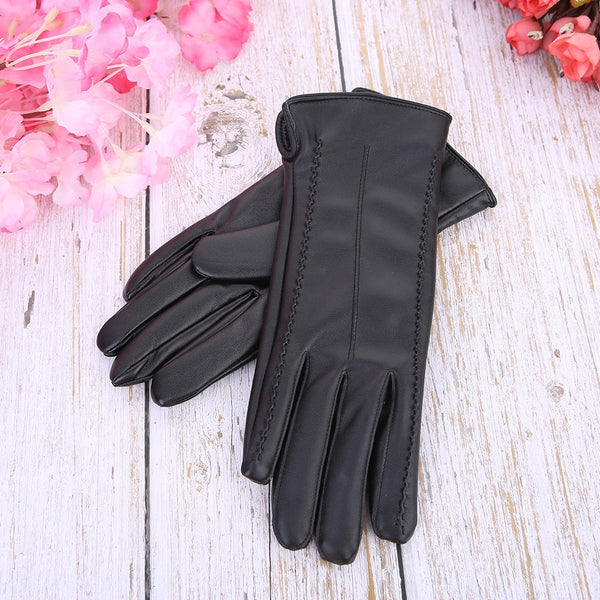 Women's winter genuine leather gloves keep warm