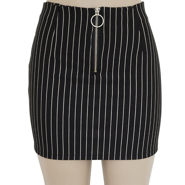 New Casual Striped Skirt Women Fashion Party Cocktail