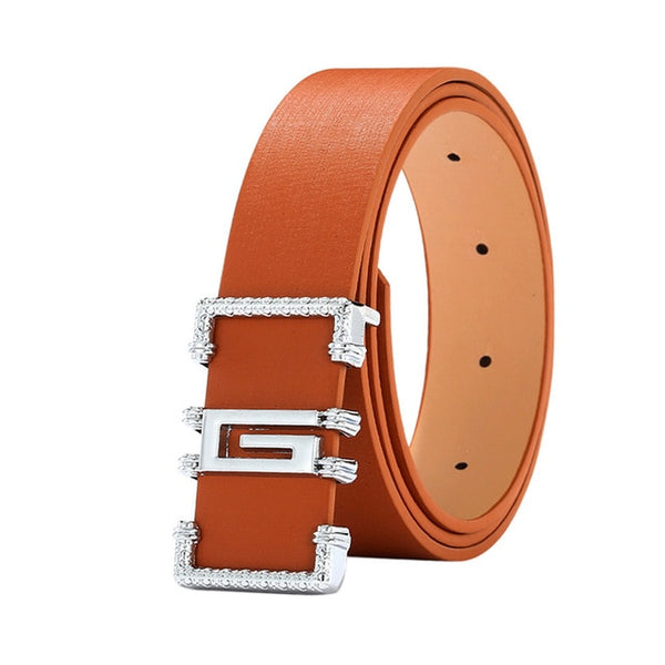 Fashion Cool Casual Leather Thin Belt Skinny Slender Waistband