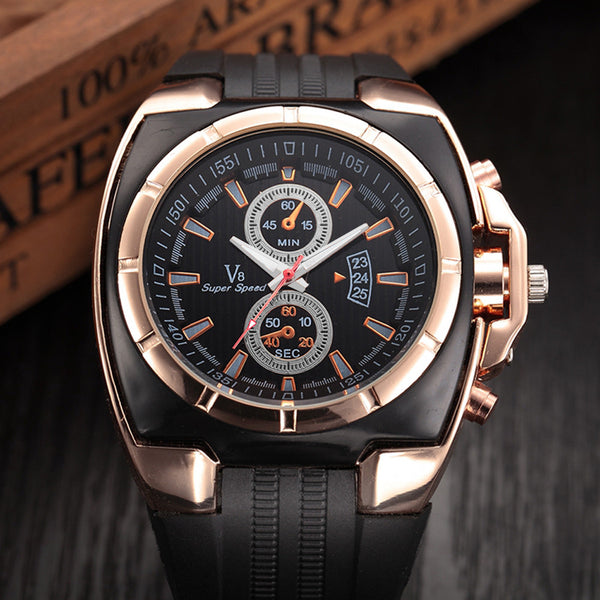 Strap Wrist Watches Mens Top Brand Stainless Steel Dial