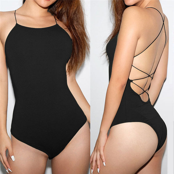 Fashion Womens Sexy Solid Sleeveless playsuit Bodysuit