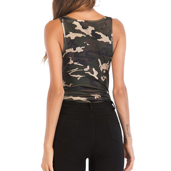 Rompers women's Sexy Sleeveless Camouflage