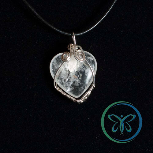 Quartz Heart & Sterling Silver Pendant