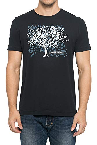 Lined Tree Printed T-Shirt - Johnwin