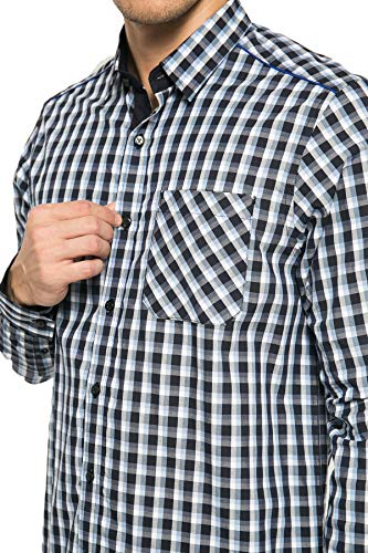 Johnwin Gingham Long Sleeve Cotton Shirt - Johnwin