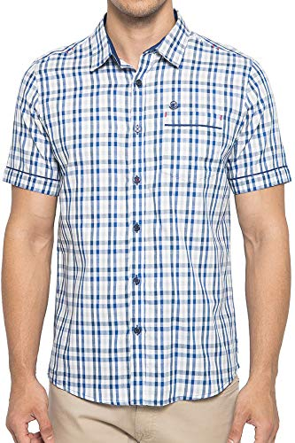 Johnwin Check Cotton Short Sleeve Shirt - Johnwin