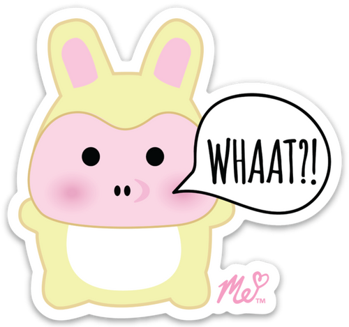 WHAAT?! Pig Die Cut Sticker(Decal)