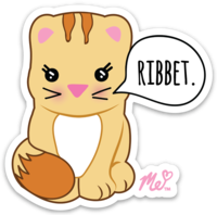 Ribbet Cat Die Cut Sticker (Decal)