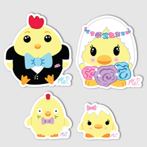 """Chicken Family"" Vinyl Decal Set of 4"