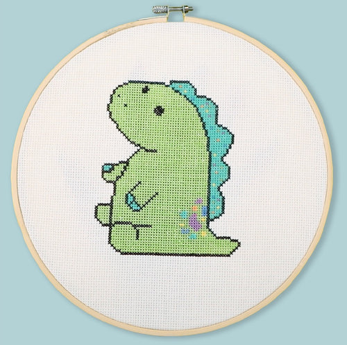 Pickle The Dinosaur (Cross Stitch Pattern)