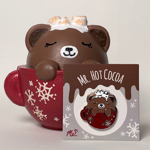 Mr. Hot Cocoa Hard Enamel Pin