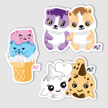 "Load image into Gallery viewer, ""Squishy Couples"" Vinyl Decal Set of 3"