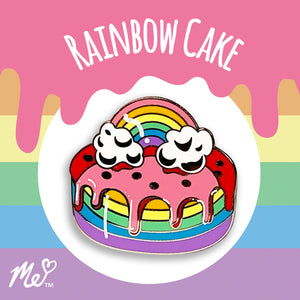 Rainbow Cake Hard Enamel Pin