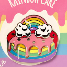 Load image into Gallery viewer, Rainbow Cake Hard Enamel Pin