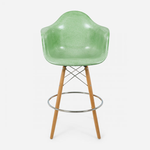 modernica fiberglass dowel bar stool arm shell case study chair jadeite