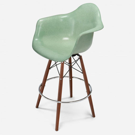 modernica fiberglass dowel bar stool arm shell case study chair walnut zinc jadeite