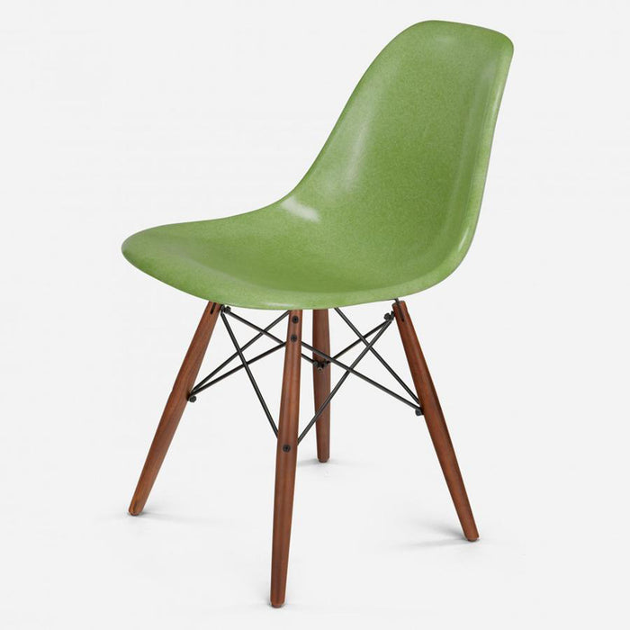 modernica fiberglass dowel side shell case study chair walnut black apple