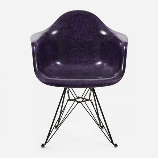 modernica fiberglass eiffel arm shell case study chair chrome purple