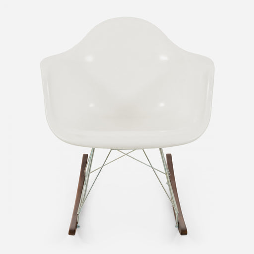 modernica fiberglass rocker arm shell case study chair white