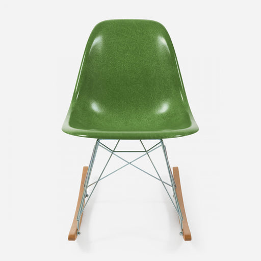 modernica fiberglass rocker side shell case study chair apple