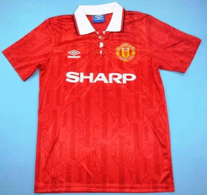 a46dafc53ca 1994 Manchester United red home soccer jersey – Jaraguar