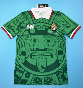 f675f4bf5df Mexico vintage Green soccer jersey World cup 98 – Jaraguar