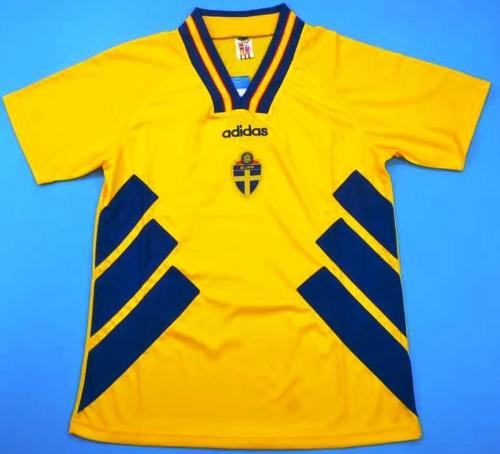 the latest ee3f4 7190b WC 94 Sweden national team retro soccer jersey