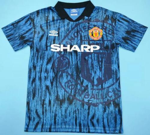 best service 1a1f7 5c43d Manchester United retro soccer jersey 92-93