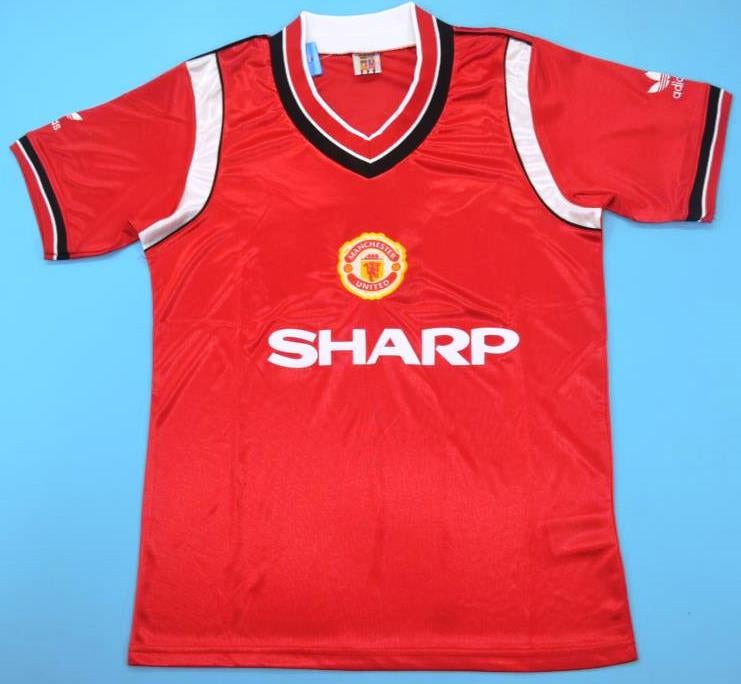 best sneakers a5288 c3017 Manchester United retro soccer jersey 1984