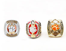 Load image into Gallery viewer, NEW Clemson Tigers College National Championship Ring Set (1981, 2016, 2018)