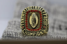 Load image into Gallery viewer, SPECIAL EDITION Fantasy Football Championship Ring 18k Gold Plated (2017) - Premium Series