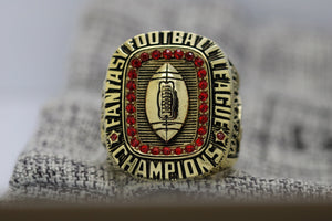 SPECIAL EDITION Fantasy Football Championship Ring 18k Gold Plated (2017) - Premium Series