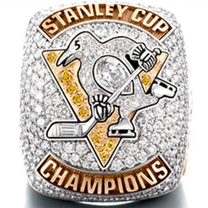 Pittsburgh Penguins Stanley Cup Ring (2017) - Sydney Crosby - NHL - Championship Flagz For Fans