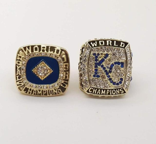 Kansas City Royals World Series Rings (1985, 2015) Set