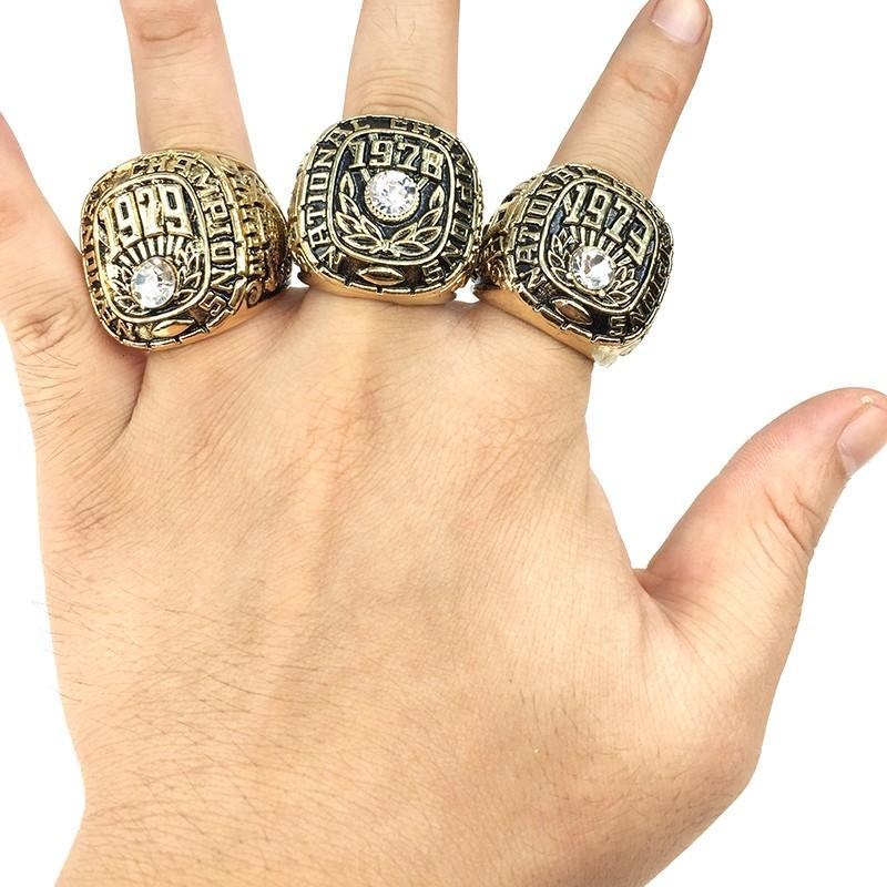 Alabama Crimson Tide College Football National Championship Ring Set (1973, 1978, 1979) - NCAA - Championship Flagz For Fans