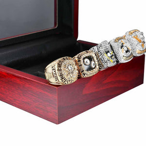 Pittsburgh Penguins Stanley Cup Ring Set (1991, 1992, 2009, 2016, 2017) - NHL - Championship Flagz For Fans