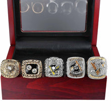 Load image into Gallery viewer, Pittsburgh Penguins Stanley Cup Ring Set (1991, 1992, 2009, 2016, 2017) - NHL - Championship Flagz For Fans