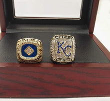 Load image into Gallery viewer, Kansas City Royals World Series Rings (1985, 2015) Set - MLB - Championship Flagz For Fans