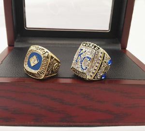 Kansas City Royals World Series Rings (1985, 2015) Set - MLB - Championship Flagz For Fans