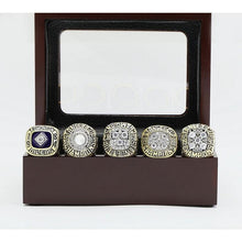 Load image into Gallery viewer, Edmonton Oilers Stanley Cup Ring Set (1984, 1985, 1987, 1988, 1990) - Premium Series