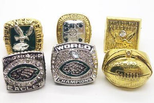 Philadelphia Eagles Super Bowl Ring Set (1948, 1949, 1960, 1980, 2004, 2018)