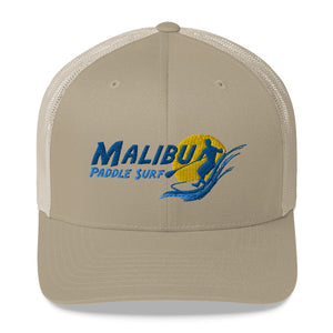 Malibu Paddle Surf Trucker Cap Pink White Black Tan Red Blue Green