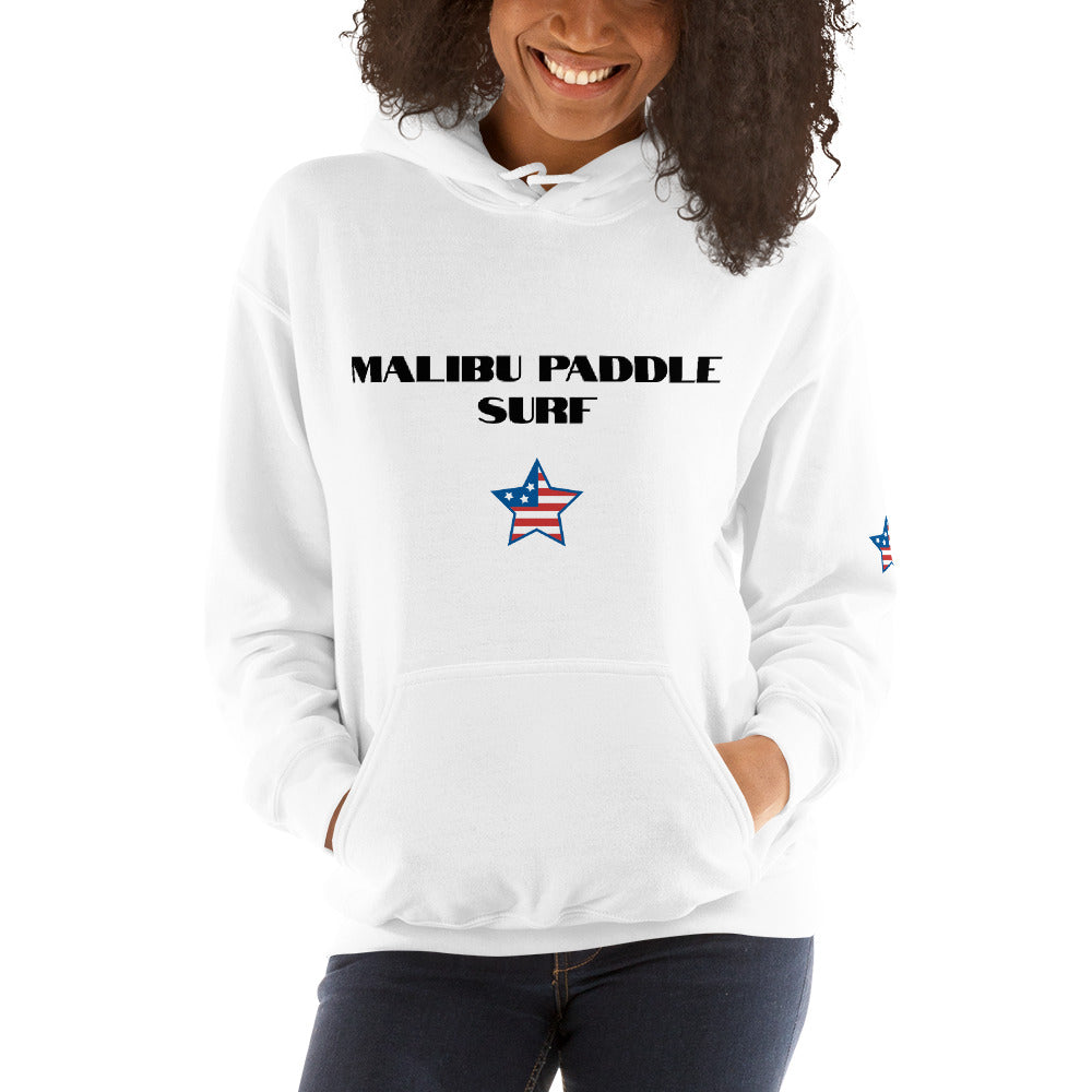 Malibu Paddle Surf Unisex Hoodie surfing beach Malibu, California
